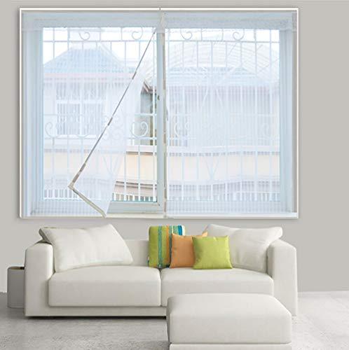 Standard Malla Protección Anti Insectos,Blanco Mosquiteras para Ventanas De Aluminio,Magnetica Enrollable con...
