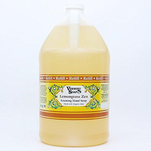 Vermont Soap Foaming Hand Soap Gallon Refill Legacy Formula (Lemongrass Zen)