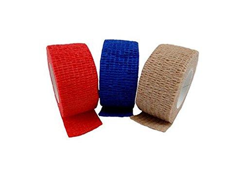 10 x Rollen van Vinger Dressing Pleister worden Schu Ring Tape Waterdichte Elastische Rood/Blauwe Huid