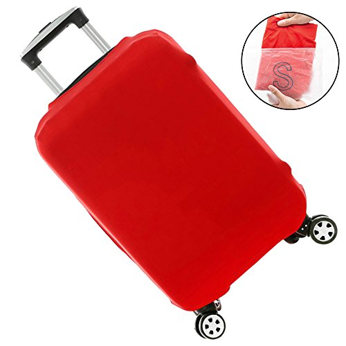 Elastico Cover Proteggi Valigia Copertura Valigia Antipolvere per Viaggio Rossa S
