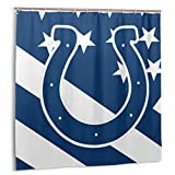 Fremont Die Indianapolis Colts Quality Polyester Fabric Waterproof Shower Curtain for Hotel Bathroom Showers and Bathtubs 72x72 in