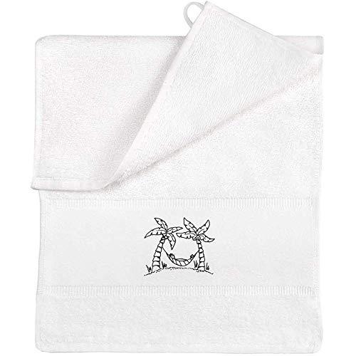 Azeeda 'Palm Tree Hammock' Flannel / Guest Towel (TL00006477)