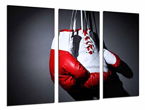 Poster Fotográfico Deporte Boxeo, Guante Blanco y Rojo, Motivacion Tamaño total: 97 x 62 cm XXL