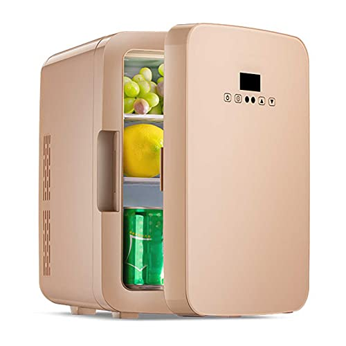 Mini Nevera para Automóvil de 10 Litros, Refrigerador y Calentador Compacto con Alimentación de AC / DC, Refrigerador Portátil Ideal para el Cuidado de la Piel, Alimentos, Medicamentos, Hogar