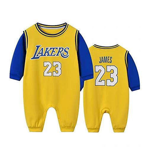 NIUPUPU Maglia da Basket NBA Lebron Raymone James 23 Stephen Curry 30 Bulls 23 Baby Pagliaccetti Creepers Appassionato di Sport