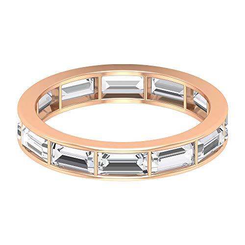 Rosec Jewels 10k dorado rosa Baguette Diamond