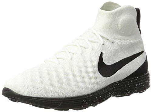 Nike Lunar Magista II FK FC, Scarpe da Ginnastica Uomo, Bianco (White/Black/Black), 45 EU
