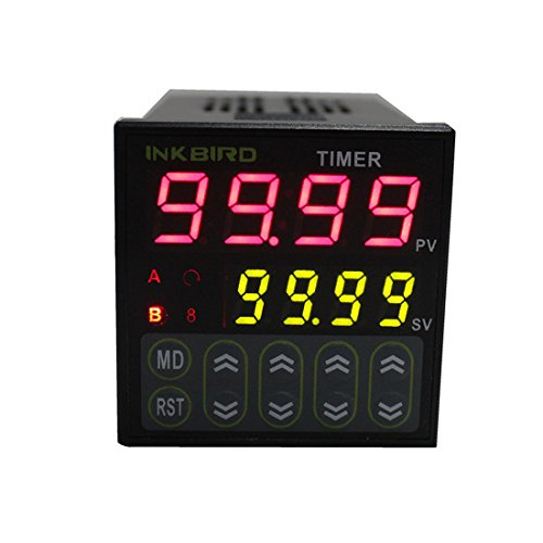 Inkbird Digital Cycle Timer Switch Preset Scale IDT E2RH Relay Tact NPN PNP Input Dual Function Register 100-240V Programmable Time Setting