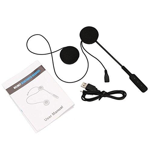 Moto Helmet Sans fil Oreillette Bluetooth Moto Casque Casque Bluetooth 4.0 Double Haut-parleurs Stéréo Mains Libres Appel de Contrôle de la Musique Mic Écouteur Noir