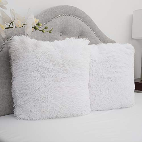 Sweet Home Collection Plush Pillow Faux Fur Soft and Comfy...