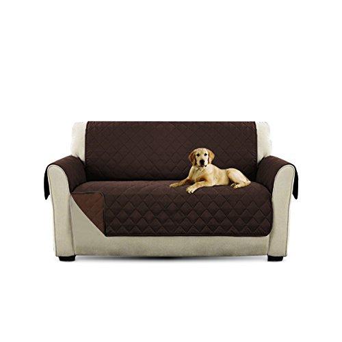 PETCUTE Lujo Cubre para Silla Fundas de Sofa Protector de sofá o sillón, Dos o Tres plazas Marrón 2 plazas