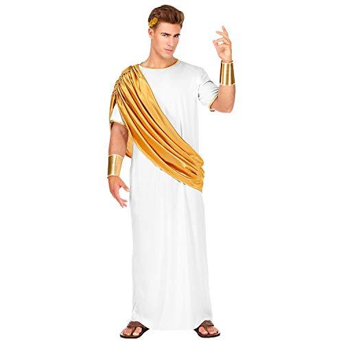 WIDMANN 07875 – Disfraz Caesar, Toga, Protector de Brazos y Corona de Laurel, Emperador, Rey, imperador, Carnaval, Fiesta temática