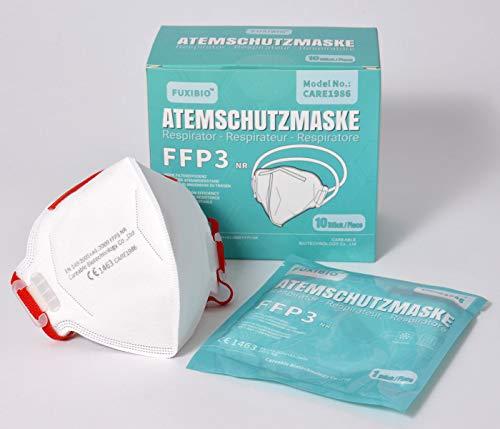 Zertifizierte FFP3 Atemschutzmasken Premium Schutzmaske Mundschutz Atemmaske Staubmaske (10 Stück)