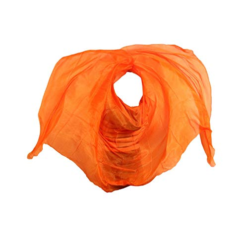 MEIshop Real Silk Belly Dance Veils Customized Hand Thrown Scarf Shawl Gradient Women Dancing Accessories-As picture-XXL-300cm-114cm