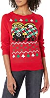 Despicable Me Women's Minion Scarf Christmas Sweater
