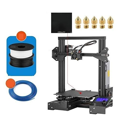 5day 3D Ender-3 Pro Printer Printing Masks Magnetic Build Plate Resume Power Failure Printing DIY KIT Mean Well Power Supply shipping from UK (Color : Ender 3 ProX Add 2KG)