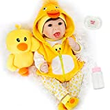 Milidool Lifelike Reborn Baby Doll 22 Inch Realistic Weighted Reborn Girl Dolls with Yellow Duck Toy...