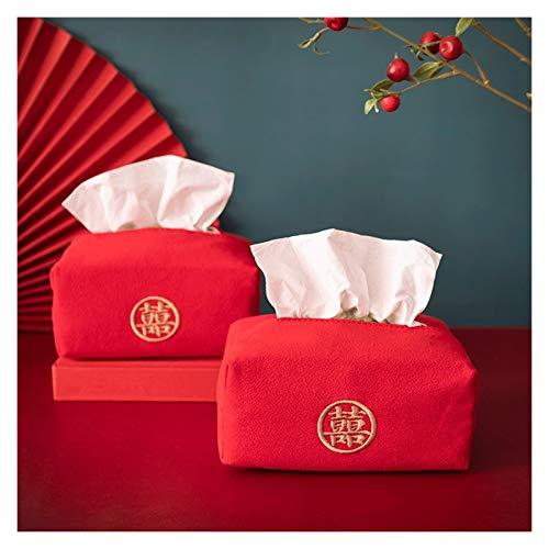 Tissue Holder Box Copertura della scatola del tessuto del tessuto della scatola del tessuto di stile cinese, titolare del tovagliolo della carta del tessuto del tessuto, per il bagno o la camera da le