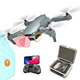 Foldable GPS Drones with Camera for Adults and Kids, FPV Camera Drone HD 4K with Automatic Obstacle Avoidance, Auto Return Home, Follow Me, RC Drone Quadcopter with 2 Modular Batteries
