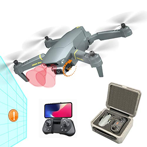 Foldable GPS Drones with Camera for Adults and Kids, FPV Camera Drone HD 4K with Automatic Obstacle Avoidance, Auto Return Home, Follow Me, RC Drone Quadcopter with Modular Battery