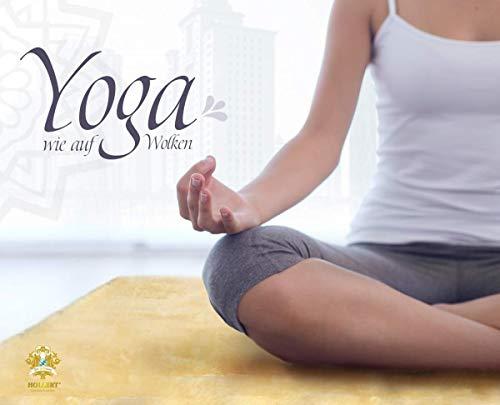 Hollert Yogamatte aus Lammfell medizinische Gerbung Fitnessmatte Pilates Gymnastikmatte Sportmatte Übungsmatte rutschfest versch. Größen Größe 120 x 60
