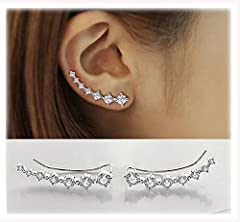 Metal Type:S925 Sterling Silver. Elegantly crafted in high quality 925 sterling silver polish rhodium finishing Elegantly crafted in high quality 925 sterling silver polish rhodium finishing Stunning crystal: AAA-quality cubic zirconia with meticulou...