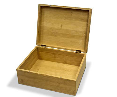 Bamboo Stash Box with Magnetic Lid | Wooden Keepsake Box for Storage and Jewelry
