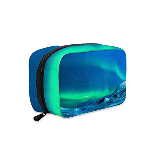 Aurora Polar Lights Northen Lights Makeup Bag Zipper Pouch Travel Toiletry Bag Cosmetic Accessories Organizer Purse Large Portable for Women Girls