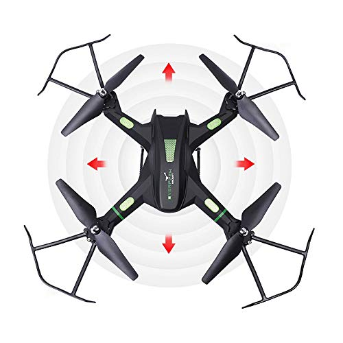 Slreeo Large-Scale Fall-Resistant Aerial Photography Drone, High-Definition Quadcopter, Real-time Image Transmission, Adult Professional RC Aircraft, Headless Mode, Simple Operation (Color : Black)