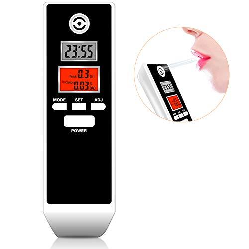 Ethylotest Homologué, Ethylotest Electronique à Double écran LCD, Alcootestavec Alerte Sonore, Mise Hors Tension Automatique, Plage 0,0-1,9 g/l