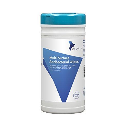 Serenity Hygiene Salviette antibatteriche multi-superficie senza alcool - uccide i virus