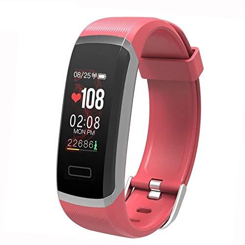 Smartwatch Activiteitstracker, voor dames en heren, waterdicht, intelligente armband, hartslagfrequentie, bewaking en bewaking van slaap, sport, fitness, koppels, gezondheid, Rood