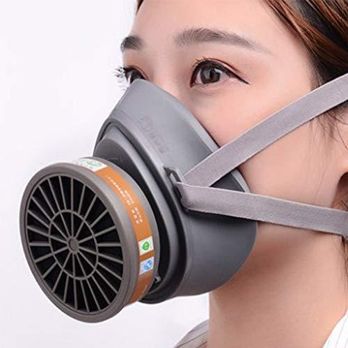 Dust Gasmasker Gelaatsstuk Respirator, Full Seal Rubber Respirator Voor Adembescherming, Industrial Grade Quality Gas Mask, Met Inbegrip Van Filter