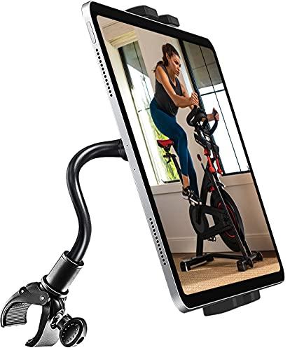 woleyi グースネック フィットネスバイクタブレットホルダー 自由曲げ可能 エクササイズバイク トレッドミ...