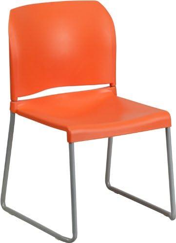Hercules Series 880 lb. Capacity Contoured Ranking TOP12 Stac Back Full Sale item Orange