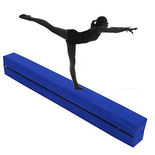 2,2 m Faltgymnastik Balancierbalken, Übungen zu Hause oder am Gymnasium, Geschenk für Kinder, blau