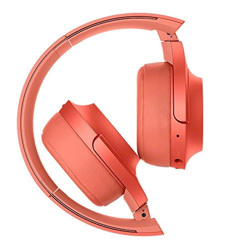 ソニーワイヤレスヘッドホンh.earon2MiniWirelessWH-H800:Bluetooth/ハイレゾ対応最大24時間連続再生密閉型オンイヤーマイク付き2017年モデルトワイライトレッドWH-H800R
