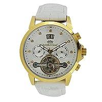 Roebelin&Graef 女性用ラウンドシェイプビッグデイトフライホイール自動巻き時計