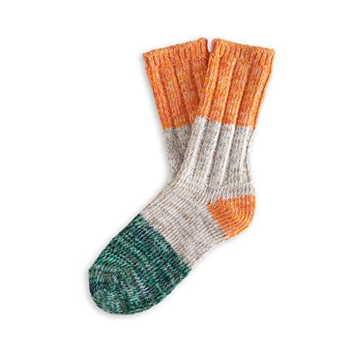 THUNDERS LOVE   Unisex Socks   Size 36-39   Helen Model   Orange Love Socks   Cotton Socks   Ecological Socks   Recycled Cotton 90prozent   Soft and Padded Touch   Ribbed Fabric