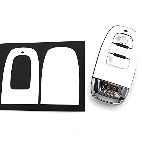 Schlüssel Skin Folie AC für 3 Tasten Auto Schlüssel Folien Cover - Finest-Folia (Carbon Weiß)