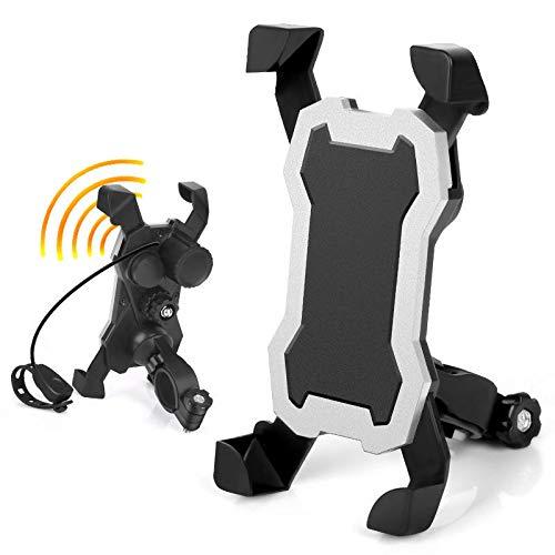 Portabidones para bicicletas 3.5-6.5in Soporte de teléfono de la bicicleta universal 360 ° Rotación Afile a prueba de motocicletas Ciclismo Soporte de soporte de teléfono con Horndurable Portabotellas