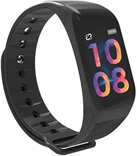 Smart Watch_Smart Pulsera Fitness Silicona Pulsera Presión Arterial Monitor de Ritmo Cardíaco Dispositivo Banda Reloj Negro Rojo Negro