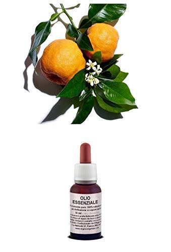 Olio Essenziale 100% Puro ARANCIO AMARO Origine Sicilia 10 ml Naturale Uso Interno/Esterno