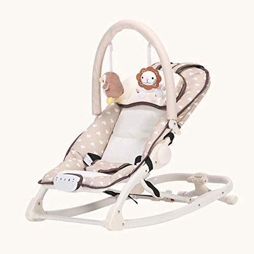 Juguetes para Bebés Mecedora Niño Sueño Sacudida Comodidad Reclinable Multifunción Ligero Plegable Música Respaldo De 3 Velocidades