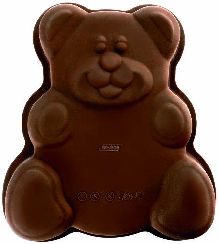 Ibili Backform Teddybär, Silikon, braun, 24 x 24 x 5.5 cm