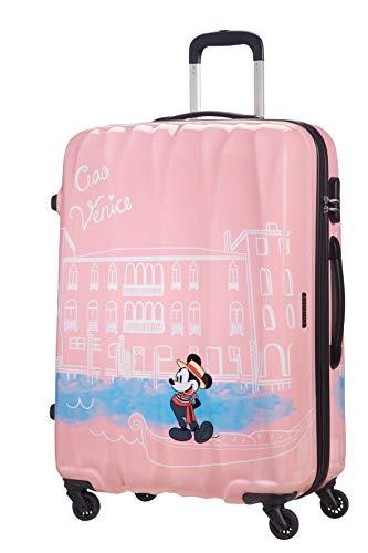 American Tourister Disney Legends - Spinner L Valigia per Bambini, L (75 cm - 88 L), Rosa (Take Me Away Mickey Venice)