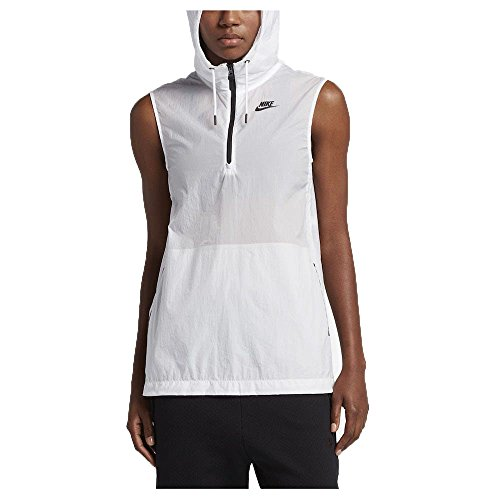 Nike Womens Tech Hypermesh Full Zip Vest (White, S)