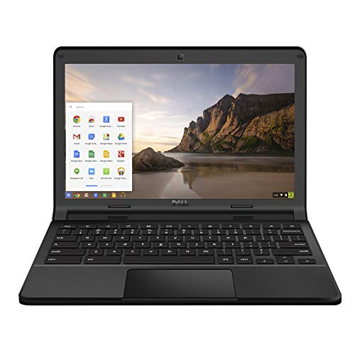 KJD Used Chromebook in Good Condition Lightweight Laptop P22t (Chromebook 11 3120) with Computer Skin Film in A Cover 11.6 inch Celeron N2840 2.16GHz 4GB RAM 16GB SSD Chrome OS Online Class