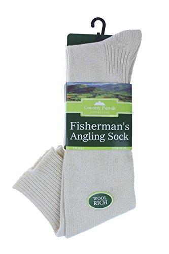David James Country Pursuits Kollektion Fisherman 's Angeln Socken Country Pursuit Angeln Größe 6–11creme