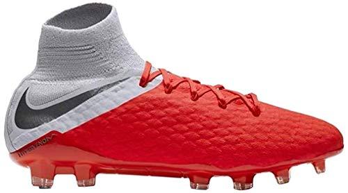 Nike Hypervenom 3 Pro DF FG, Zapatillas de Fútbol para Hombre, Rojo (Lt Crimson/Mtlc Dark Grey/Wolf 600), 42 EU
